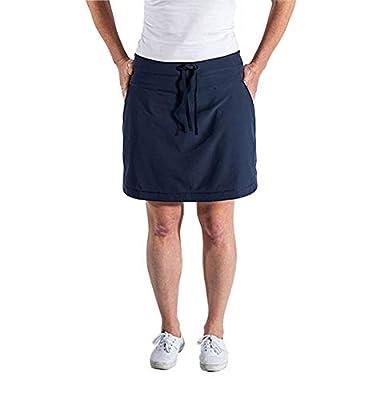SCOTTeVEST Scarlett Skort - Travel & Workout Skirt - 8 Hidden Pockets NVY M1