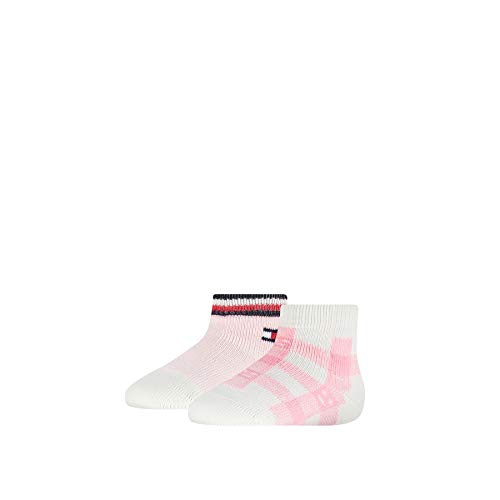 Tommy Hilfiger Baby-Girls Plaid Check (2 Pack) Socks, pink Combo, 15/18