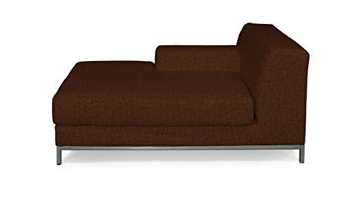 Dekoria Kramfors Recamiere Links Sofabezug Sofahusse passend für IKEA Modell Kramfors orange-schwarz
