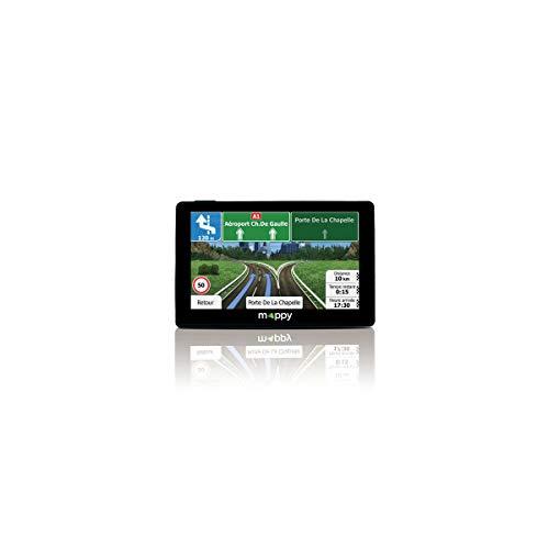 Mappy GPS Iti E431 (Écran : 4,3 Pouces - 15 pays - Mise à jour gratuite jusqu'à 4 fois par an) Noir