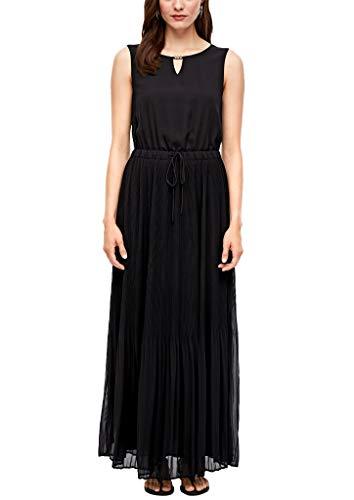 s.Oliver Damen lang Sommerkleid Kleid, 9999 Black, 42