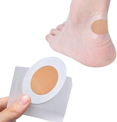 Sumifun Paquete de 15 almohadillas acolchadas para prevenir blísteres de talón, moleskin con vendaje de espuma adhesivo para proteger el talón y los dedos del pie impermeables