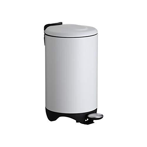 Cubo de basura 7L Papelera de interior puede acero inoxidable Dormitorio papelera de estar Cocina Can Tipo de Hogar pedal bote de basura con tapa 1.8 galones Negro / / plata blanco / rosa bote de basu