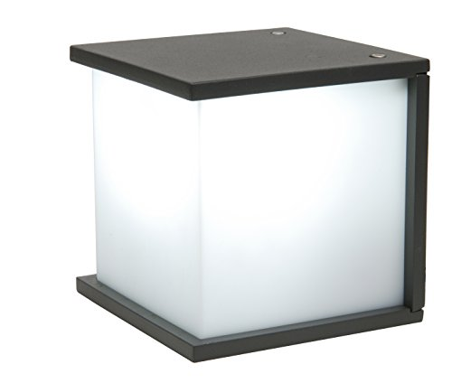Eco Light moderna lámpara de pared exterior caja Cube, E27, 16,5x 16,5cm, Antracita 1846gr