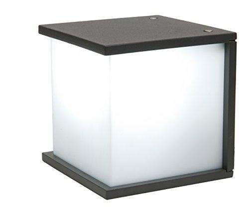 Eco-Light Moderne Außenwandleuchte Box Cube, mit Universal-Gewinde für E27 Birnen. 16,5 x 16,5 cm, anthrazit 1846 GR. Nutzen Sie aktuelle LED Glühbirnen und sparen Sie Energie und bares Geld.