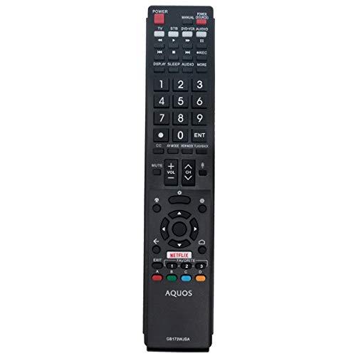 GB173WJSA RRMCGB173WJSA Replacement Remote Applicable for Sharp Aquos TV LC-80UH30U LC-70UH30U LC-70UE30U LC-70UC30U LC-60UE30U LC-80UE30U LC80UH30U LC70UH30U LC70UE30U LC70UC30U LC60UE30U LC80UE30U