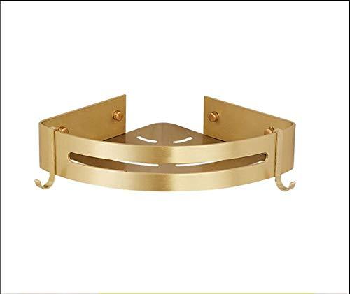 Badrumshörnhylla Vägghylla Borstat aluminium badrumshylla Guld Duschhylla Schampodörr för hörnhylla för badrumsarrangör 1
