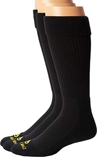 Dan Post Dan Post Cowboy Certified Over the Calf Socks 3 Pack Black 10 (Men's Shoe 10.5-13)