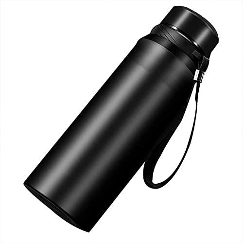 JNOI Frasco de vacío de acero inoxidable, tazas de viaje Aspirador 1L Tazas de café Frasco aislado a prueba de fugas, café, té en todas partes para el gimnasio Home Office 304 Frascos de bebida de ace