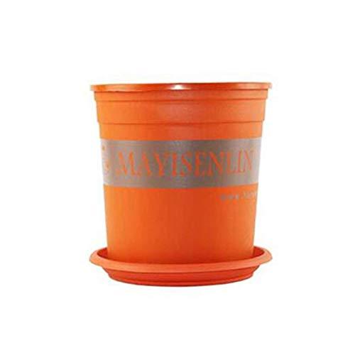 Wuzhengzhijia Deep Color Plastic Flower Pot Balcone Piantare vasi da Fiori, vassoi di Raccolta di Acqua può Essere spostato, funzionano Bene Materiali, rispettoso dell'ambiente, Spesso e impilabile