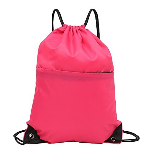 QIANJINGCQ, nueva mochila de bolsillo con cordón, tela de nailon impermeable, mochila deportiva ligera y simple, gran oferta