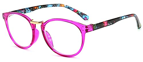 LVLUOKJ Elegante Gafas de Lectura de Metal Acogedor Patas de Resorte de Espejo de Lectura para Hombres y Mujeres de Mediana Edad y Ancianos (Color : Pink, Size : +2.5)