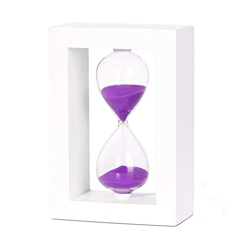 YuoungYuan Clessidra 30 Minuti Clessidra Magnetica 5 Minuti Sand Timer Uovo Timer per Ebollizione Uova Timer per I Bambini Sabbia Timer per I Bambini Purple,10 Minutes