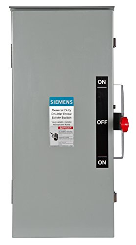 Siemens DTGNF223R 100-Amp, 2 Pole, 240-volt, 2W Non-Fused General Duty, Double Throw, Type 3R