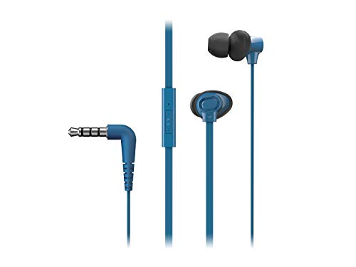 Panasonic In-Ear Kopfhörer RP-TCM130E-A in blau (Headset, Mobiltelefonie, wechselbare Pass-Stücke (S/M/L))
