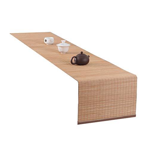 Tischläufer Bambus Tischläufer Holz Farbe Hitzebeständige Anti-Rutsch-Tee Roll Tischfahnen für Konferenztisch, Esstisch (Size : 30x250cm)