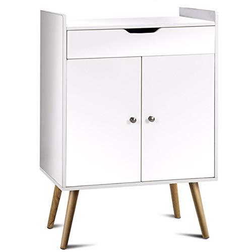 BTTNW Aparador Aparador de Buffet Gabinete de Almacenamiento Consola Gabinete Mesa de Tabla Sever Muebles de Sala de Estar Adecuado para Salas De Restaurante (Color : White, Size : 68x40x99cm)