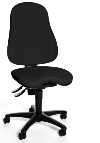 Topstar Balance 400 Chaise de bureau pivotante Noir