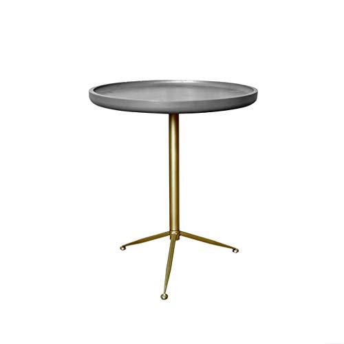 table basse Round Iron art couleur de ciment moderne salon simple chevet canapé coin (taille : 49cm*56cm)