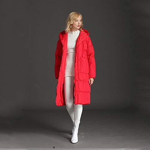 DPKDBN Vrouwen Down Jacket, versie van het type casual losse cocon jas dikke lange mouwen met capuchon winter vrouwen donsjack