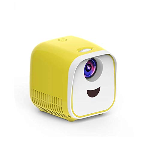 Release Microproyector 1080P Reproductor de Video portátil USB Compatible con HDMI Compatible con TV Stick, Laptop, PS4, Xbox (Color : Yellow)