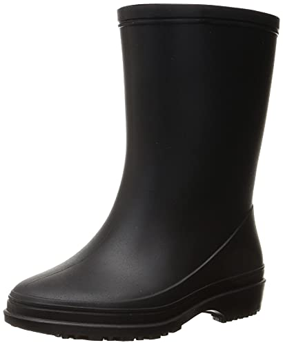 [アキレス] レインブーツ 長靴 軽量 日本製 18cm~24cm E キッズ 男の子 女の子 OFR 0520 ブラック 22.0 cm