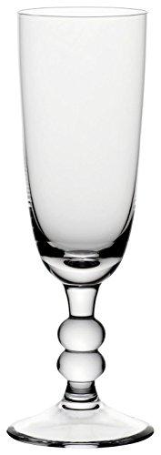 "Bohemia Cristal 093 006 048 Sektgläser ca. 180 ml aus Kalk-Natron-Glas 6er Set \""Cottage\"""