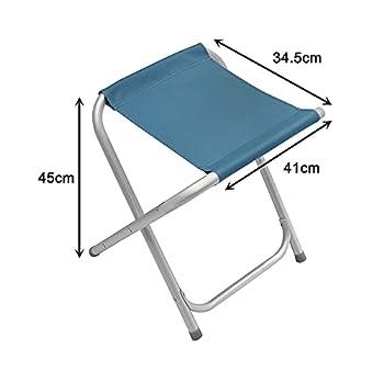 Homecall Tabouret de camping pliable en aluminium (Bleu)