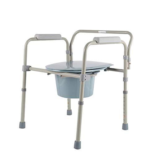 ZWJ-Duschhocker Verstellbare freistehende Toilettensitz Toilettenstuhl Polster for ältere tragbare Töpfchen
