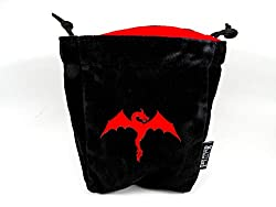 Microfiber Large Dice Bag | Truly Reversible with Dragon Image on Each Side | Stands Up on its Own and Holds 200+ Dice