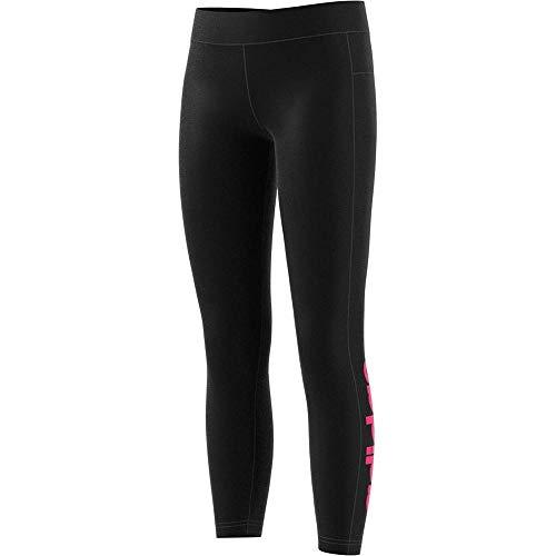 adidas - Fitness-T-Shirts für Mädchen in Black/Real Magenta/White, Größe 140