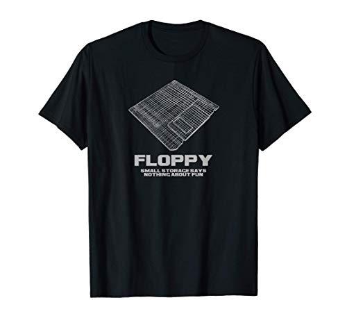 Diskette in Retro Hologramm Optik für Gamer+Computer Fans T-Shirt