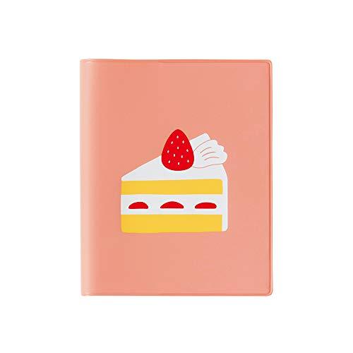 ハイタイド 手帳 2021年 スクエア マンスリー ショートケーキ ピンク 21NE3 (2020年10月始まり)