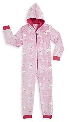 Peppa Pig Pijamas Enteros Rosa Diseño Peppa Unicornio Que Brilla En la Oscuridad Super Suaves, Ropa Niña Invierno, Disfraz Unicornio Niña, Pijama Mono Capucha, Regalos Unicornios Para Niñas (4-5 años)