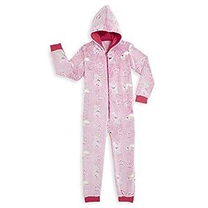 Peppa Pig Pijamas Enteros Rosa Diseño Peppa Unicornio Que Brilla En la Oscuridad Super Suaves, Ropa Niña Invierno…