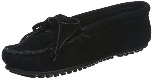 Minnetonka Women's Kilty Hardsole Moccasins 8.5 M Black
