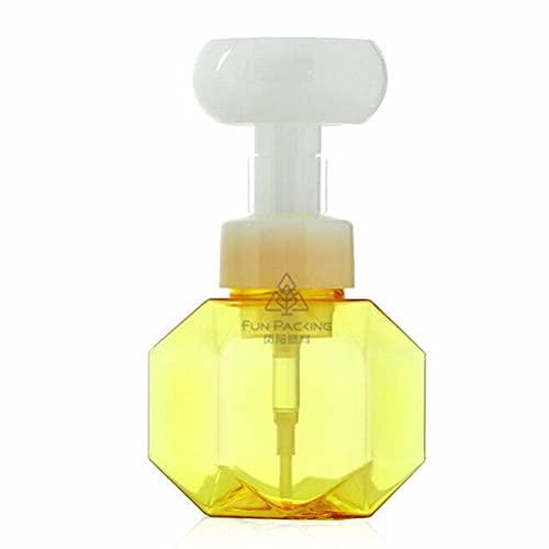 WINBST Pumpflasche Pumpspender,300ml Flüssigkeit Seife Dispenser Blume Form Schaum Schäumen Pumpe,Leer Nachfüllbar Flasche Hygiene Reinigung Flüssig für Bad Küche