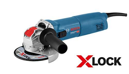 Bosch Professional Winkelschleifer GWX 14-125 (1400 Watt, für X-LOCK Zubehör, ScheibenØ: 125 mm, im Karton)