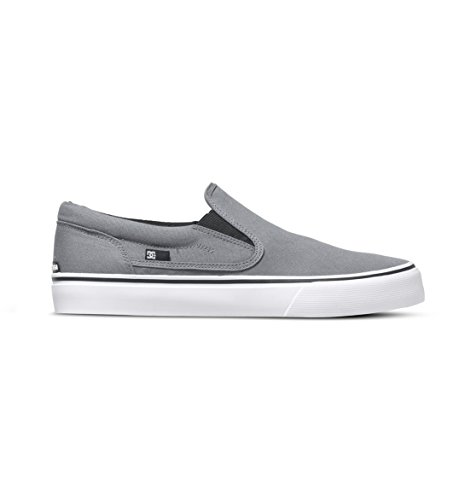 DC Men's Trase Slip-On TX Skate Shoe, Grey, 9.5 M US