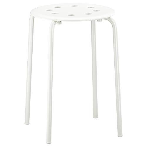 Ikea–Taburete Marius con asiento de 45cm de altura–Acero–Blanco