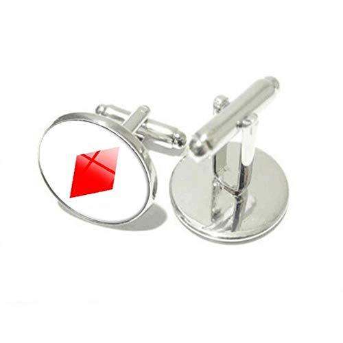 Cufflinks Spielkarte Manschettenknöpfe personalisierte Runde Glas Bräutigam Hemd Manschettenknöpfe für Herrenhemden Hochzeit Accessoires Silber