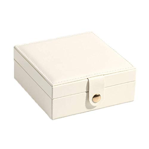 ZYING Joyería de la Caja, 4 Cubos, Marco Espesado, Regalo for Sus Seres Queridos, Pequeña Caja de joyería, Caja de almacenaje del Recorrido de Anillos y Pendientes (Color : A)