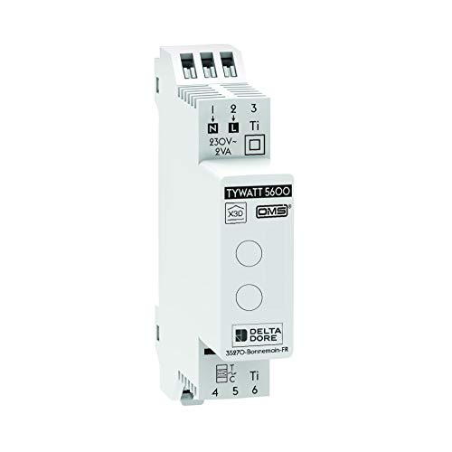 Tywatt 5600 - Delta Dore conectado sensor de consumo eléctrico, agua y calefacción - medición conectada - carcasa colectiva - 6110043