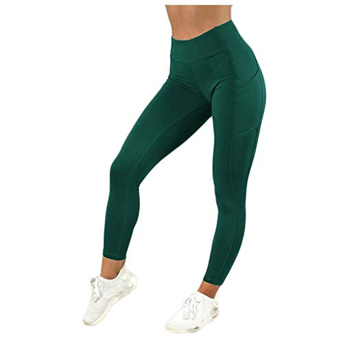 Find Discount Out Pocket High Waist Yoga Pants - Tummy Control Workout Soft Pants High Waist Yoga Le...