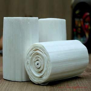 Vardhman Flower Making Natural Sola Wood Stick Paper - Pack of 5 White Rolls
