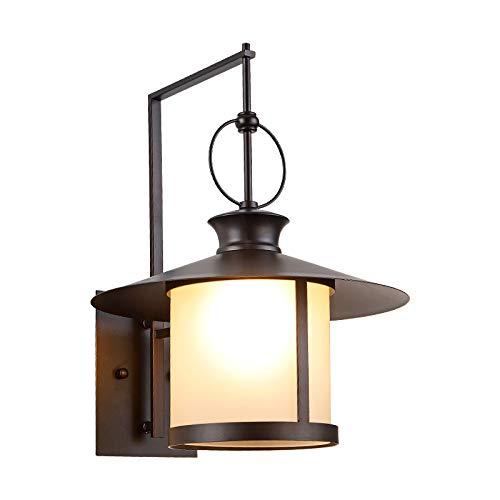 Lámpara De Pared Para Exteriores E27 Lámpara De Pared A Prueba De Lluvia Lámpara De Jardín Americana Lámpara De Pared De Estilo Tradicional Iluminación De Porche De Estilo Antiguo Para Exteriores