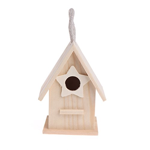 A0127 Madera Jardín pequeño pájaro Madera Casa Caseta Nido Accesorios para Mascotas