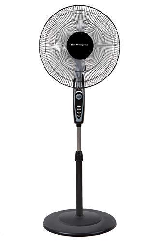 Orbegozo SF 0148 Ventilador de pie oscilante, 3 niveles de ventilación, tamaño aspas 40 cm, altura regulable, 50 W de potencia, clase de eficiencia energética A