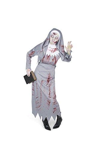 Karnival Costumes 84048 - Costume da suora zombie, da donna, taglia XL, colore: grigio