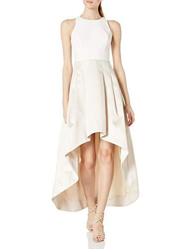 Eliza J Women's Sleeveless Two-Tone Gown Formal Dress, White/Champagne, 14